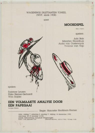 1990 Regie: Hanneke Riemer Auteurs: Brian J Burton en Tennessee Wiliams