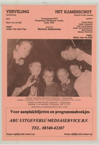 1992 Regie: Jaap van den Top en Hetty van de Klift Auteur: Herman Heijermans
